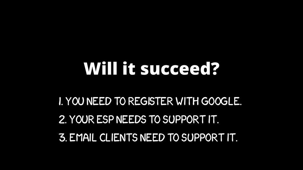 Will it succeed? 1. YOU NEED TO REGISTER WITH G...