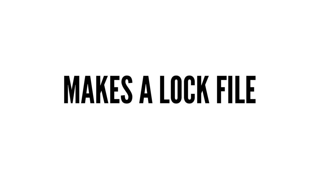 MAKES A LOCK FILE
