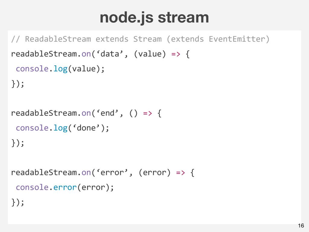 node.js stream // ReadableStream extends Stream...