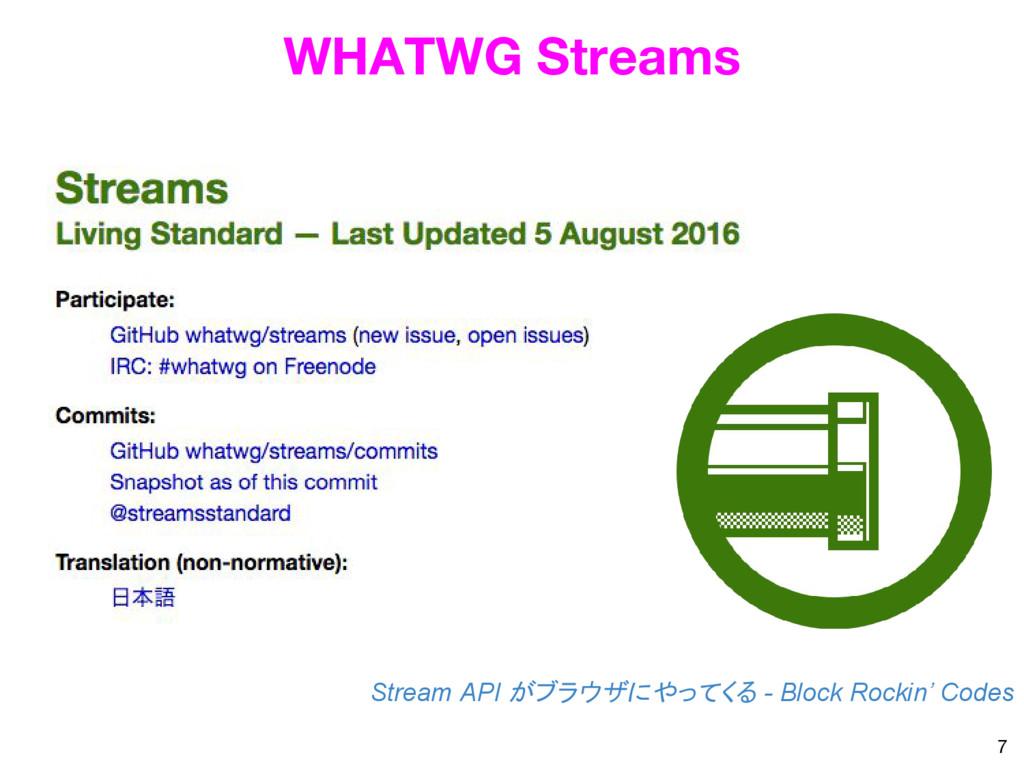 7 WHATWG Streams Stream API がブラウザにやってくる - Block...