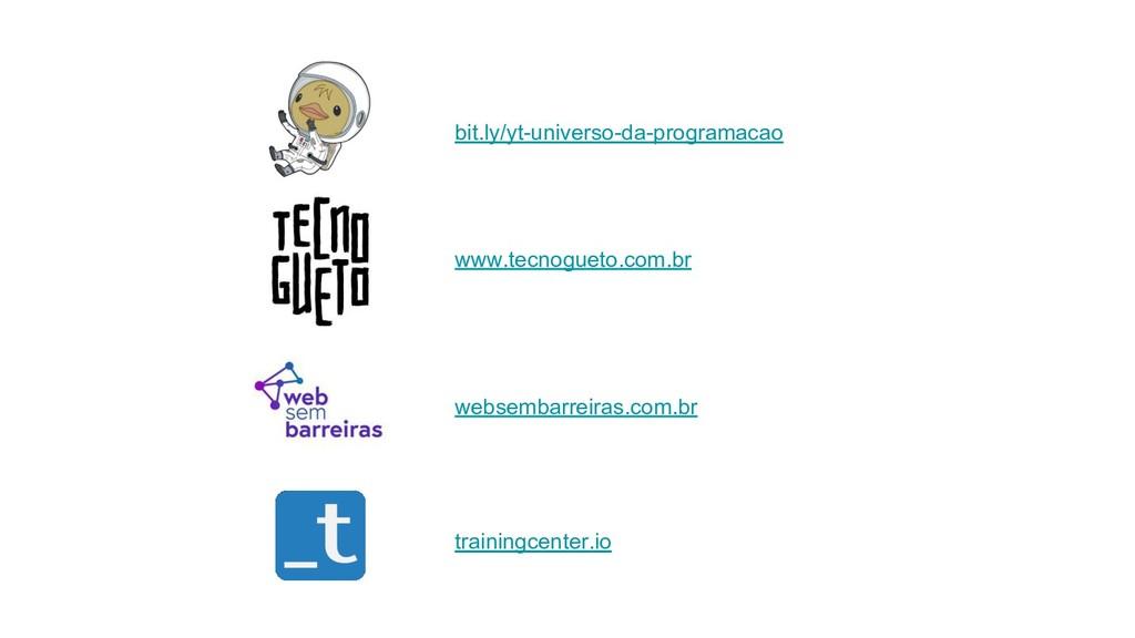 bit.ly/yt-universo-da-programacao www.tecnoguet...