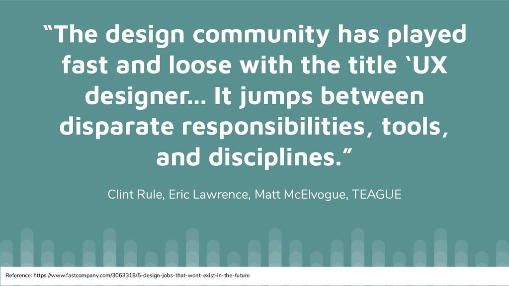 """""""The design community has played fast and loose..."""