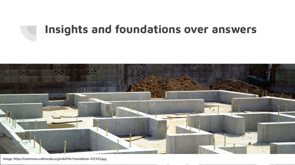 Insights and foundations over answers Image: ht...