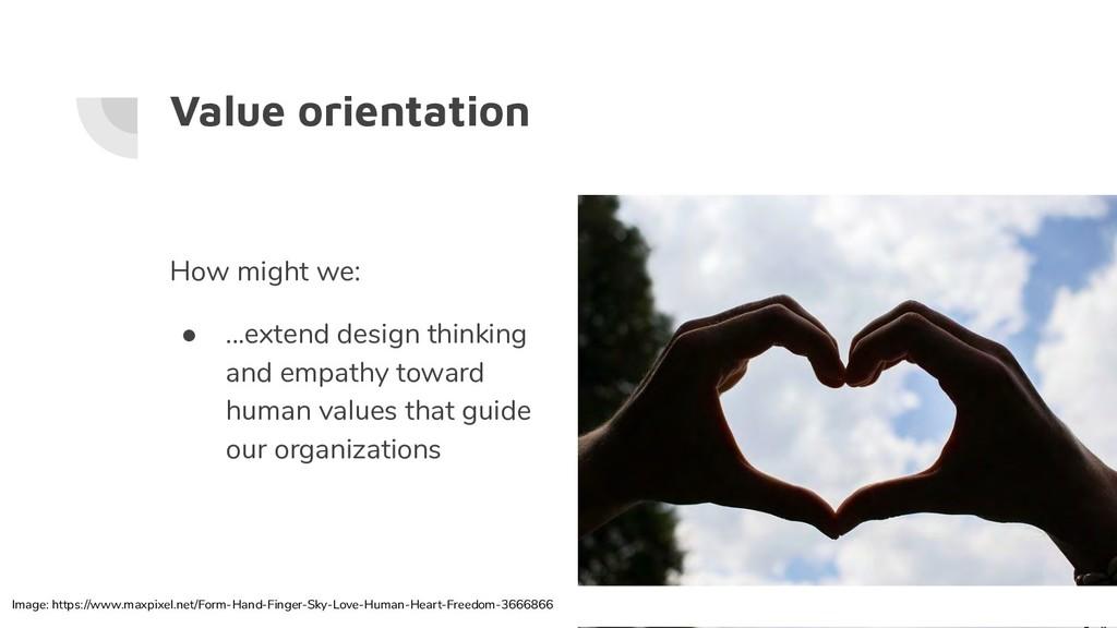 Value orientation How might we: ● ...extend des...