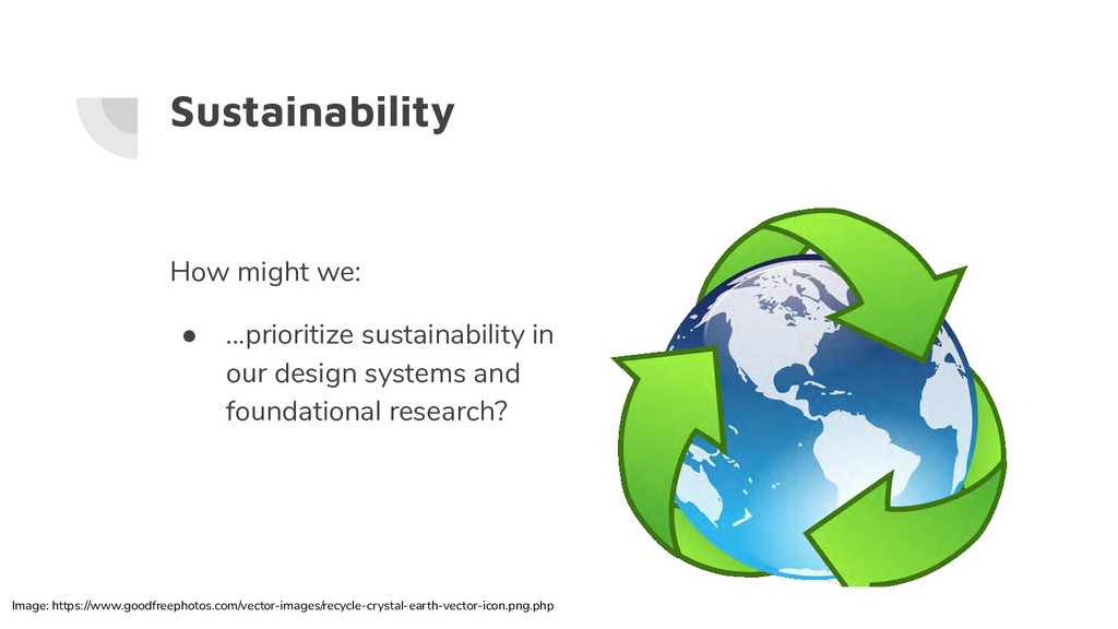 Sustainability How might we: ● ...prioritize su...