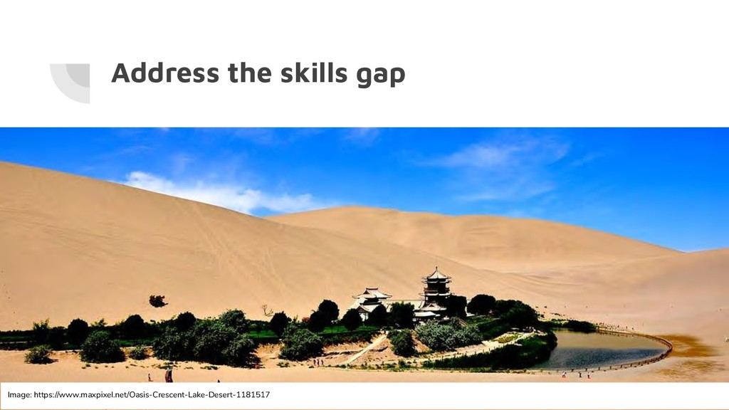 Address the skills gap Image: https://www.maxpi...