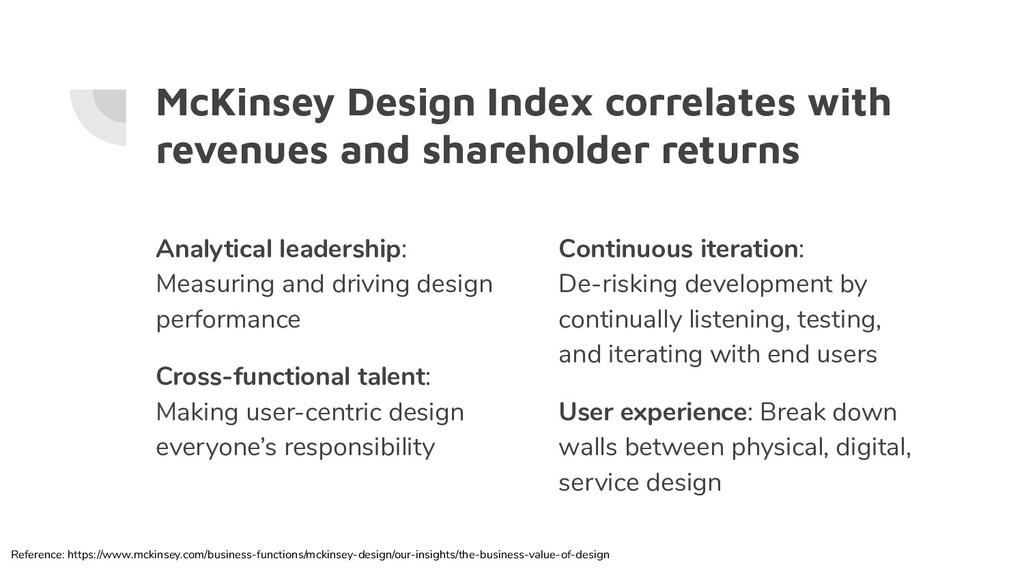 McKinsey Design Index correlates with revenues ...