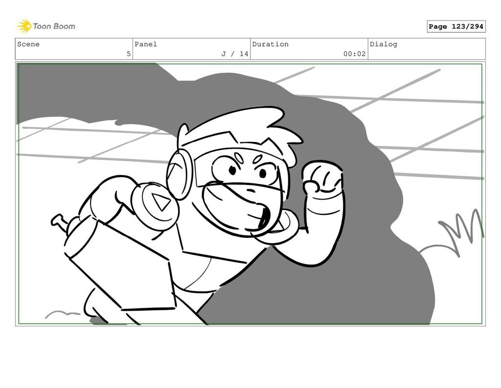 Scene 5 Panel J / 14 Duration 00:02 Dialog Page...