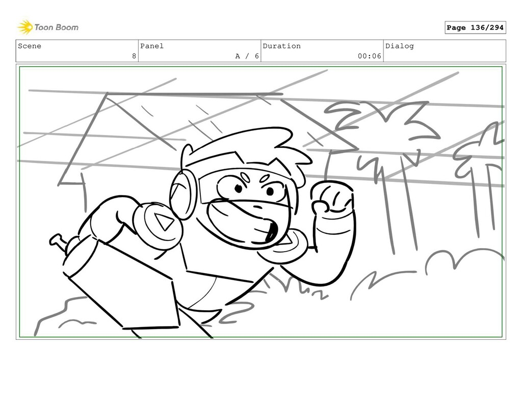 Scene 8 Panel A / 6 Duration 00:06 Dialog Page ...