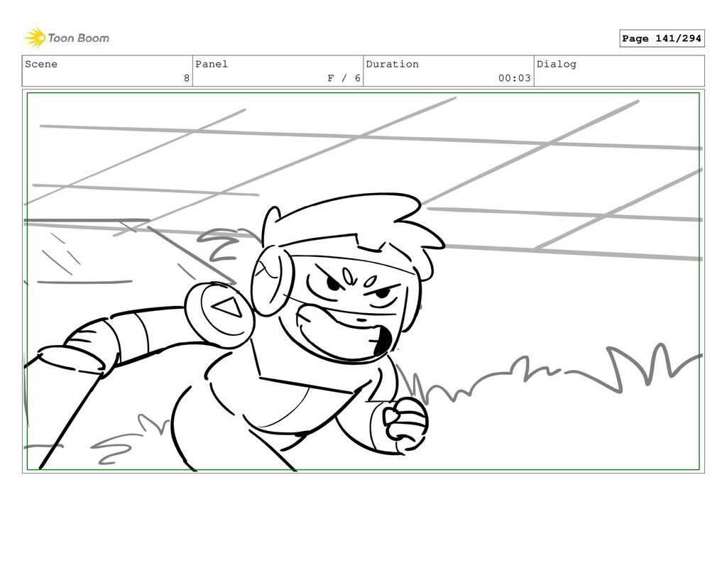 Scene 8 Panel F / 6 Duration 00:03 Dialog Page ...