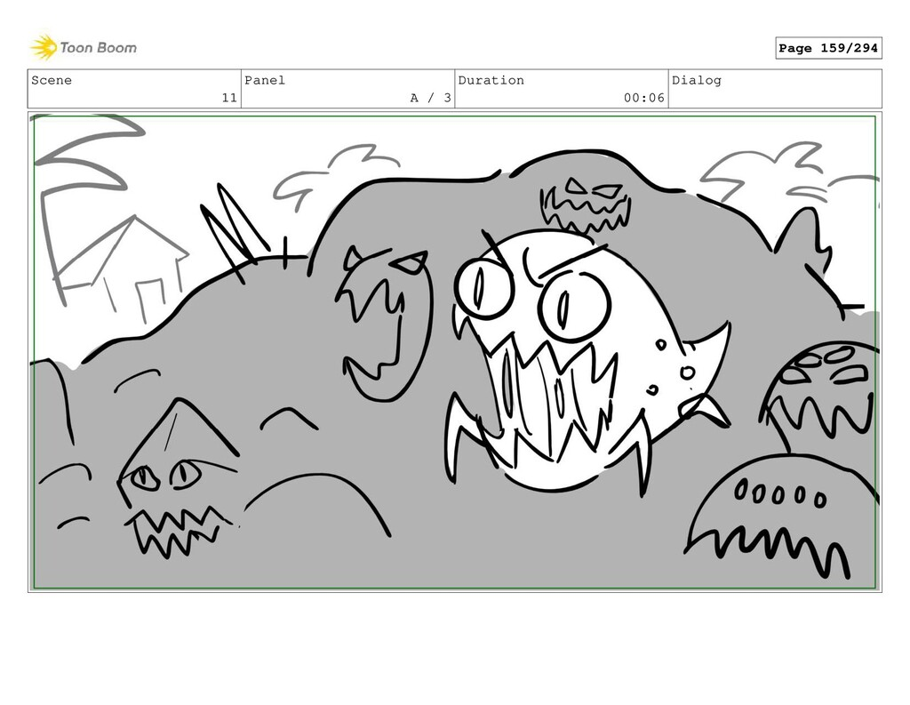 Scene 11 Panel A / 3 Duration 00:06 Dialog Page...