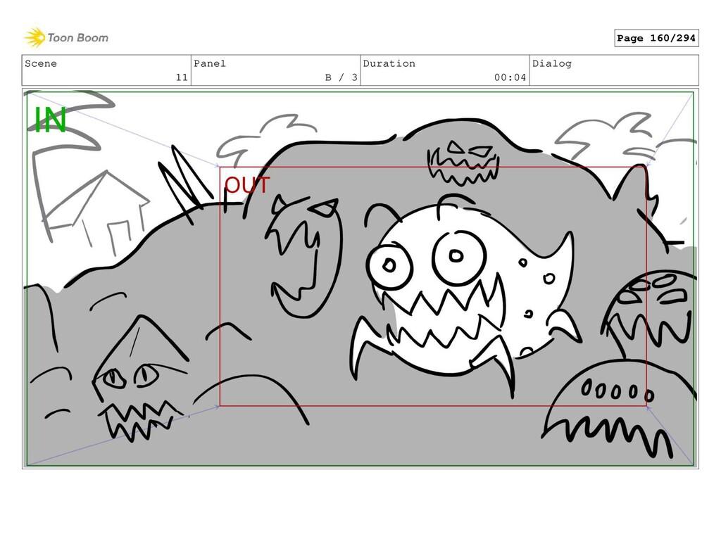 Scene 11 Panel B / 3 Duration 00:04 Dialog Page...
