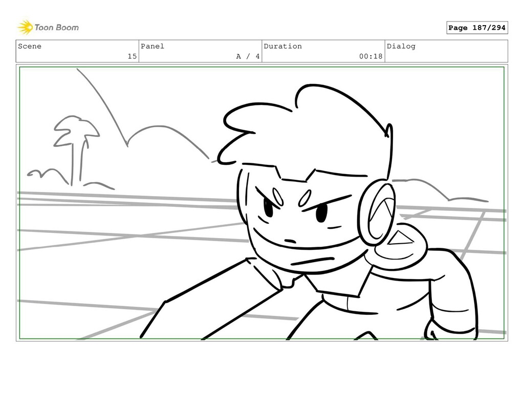 Scene 15 Panel A / 4 Duration 00:18 Dialog Page...