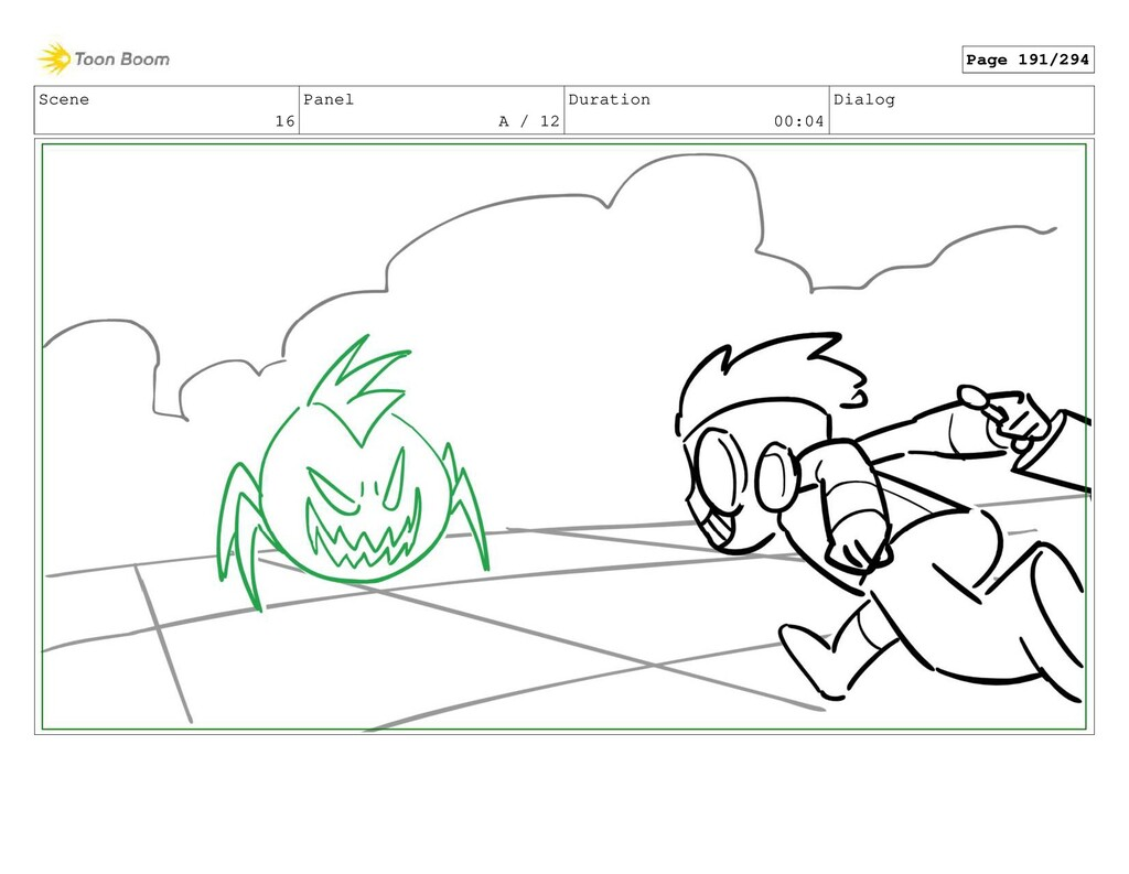 Scene 16 Panel A / 12 Duration 00:04 Dialog Pag...