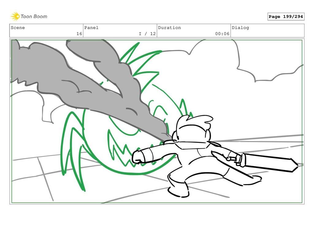 Scene 16 Panel I / 12 Duration 00:06 Dialog Pag...