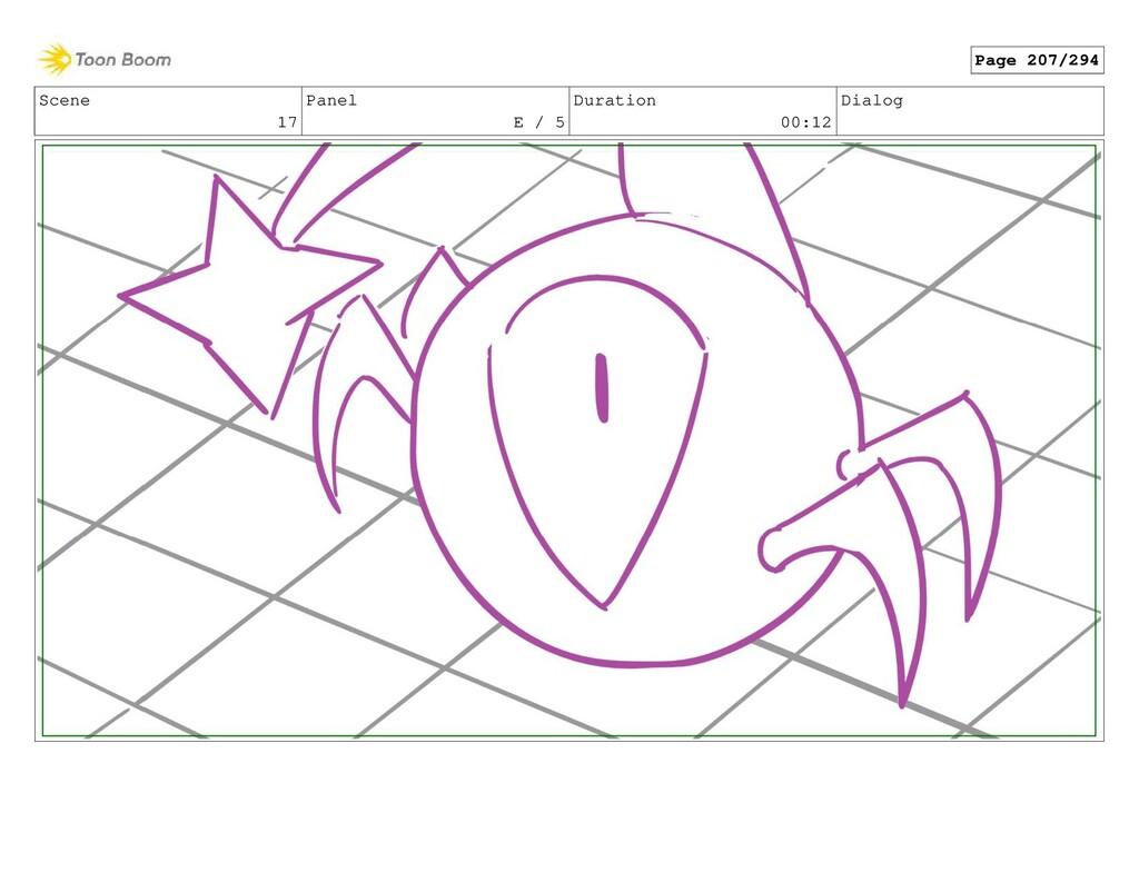 Scene 17 Panel E / 5 Duration 00:12 Dialog Page...