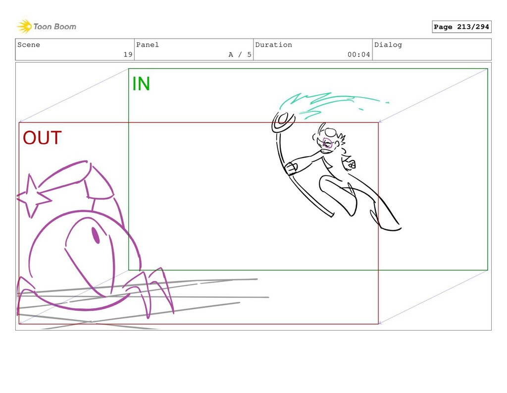 Scene 19 Panel A / 5 Duration 00:04 Dialog Page...