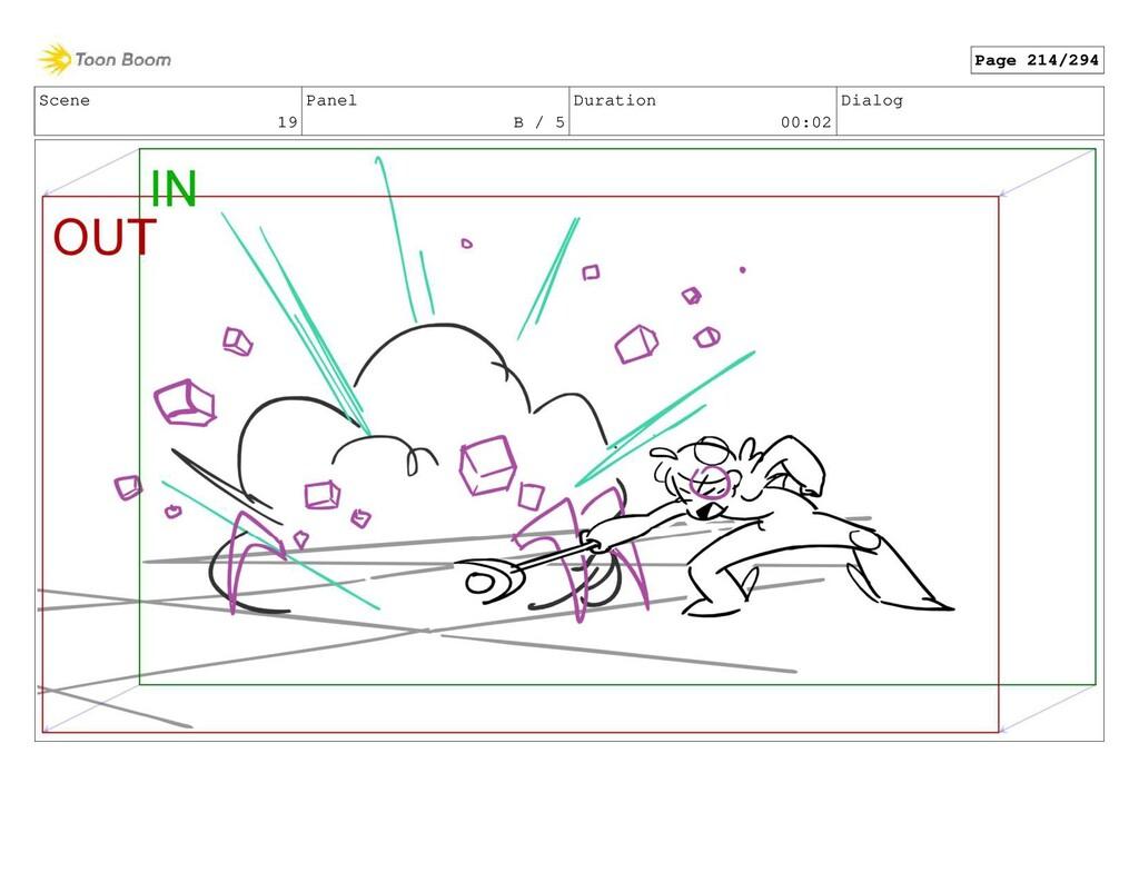 Scene 19 Panel B / 5 Duration 00:02 Dialog Page...