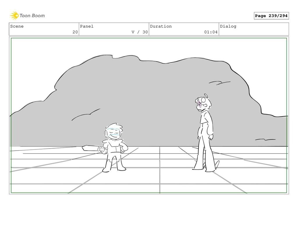 Scene 20 Panel V / 30 Duration 01:04 Dialog Pag...
