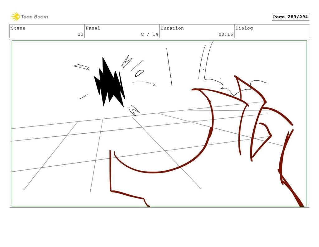 Scene 23 Panel C / 14 Duration 00:16 Dialog Pag...