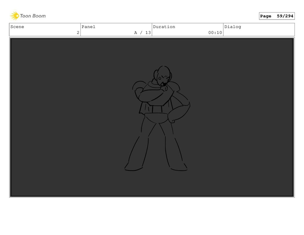 Scene 2 Panel A / 13 Duration 00:10 Dialog Page...