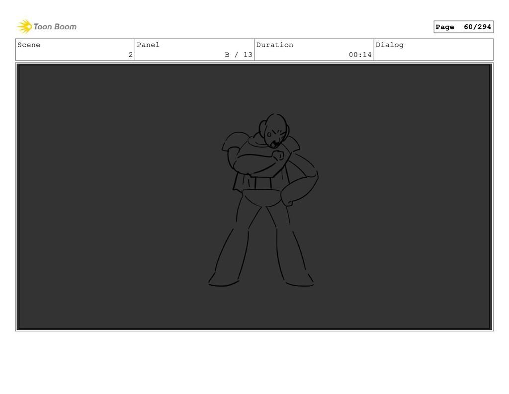 Scene 2 Panel B / 13 Duration 00:14 Dialog Page...