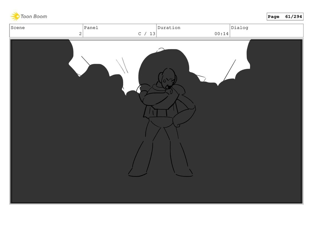 Scene 2 Panel C / 13 Duration 00:14 Dialog Page...