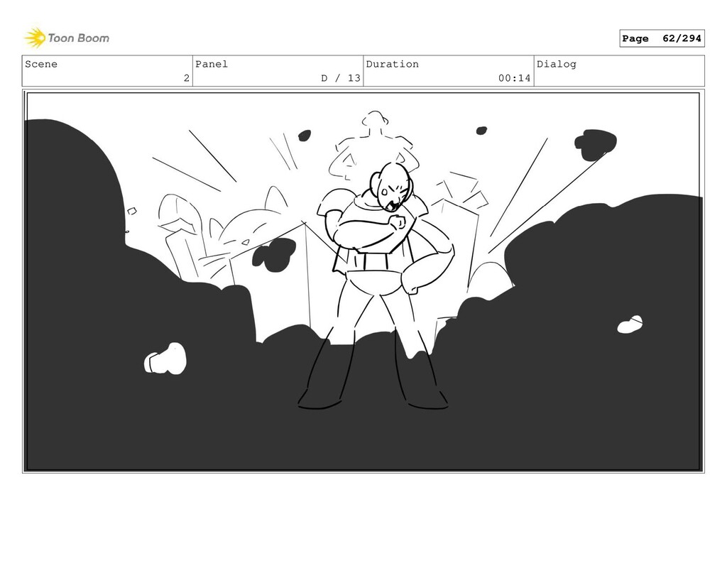 Scene 2 Panel D / 13 Duration 00:14 Dialog Page...