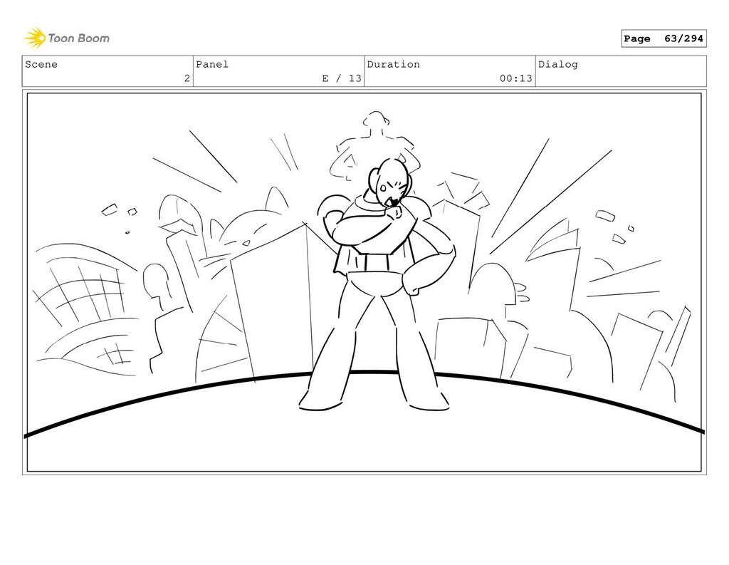 Scene 2 Panel E / 13 Duration 00:13 Dialog Page...