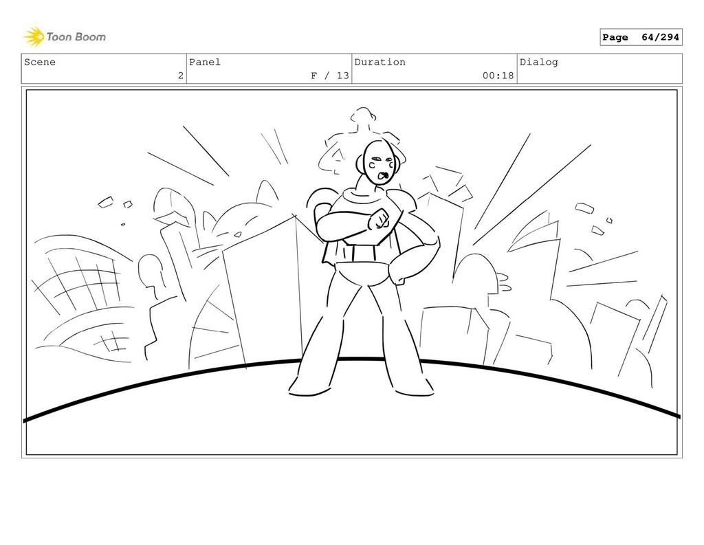 Scene 2 Panel F / 13 Duration 00:18 Dialog Page...