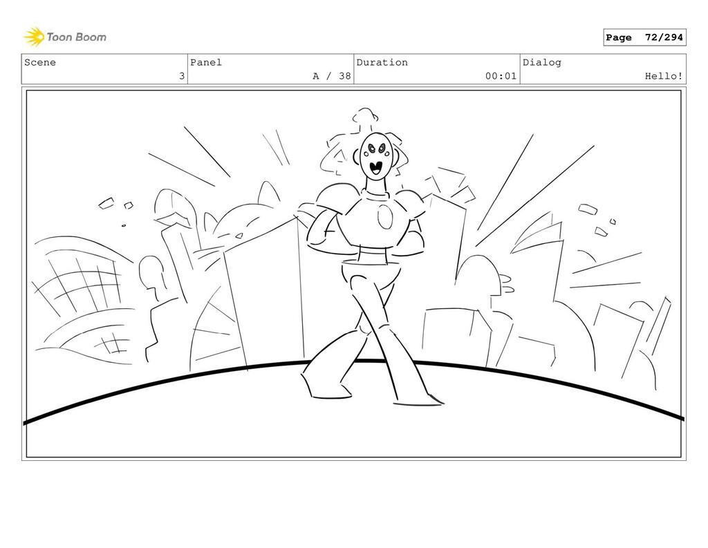Scene 3 Panel A / 38 Duration 00:01 Dialog Hell...