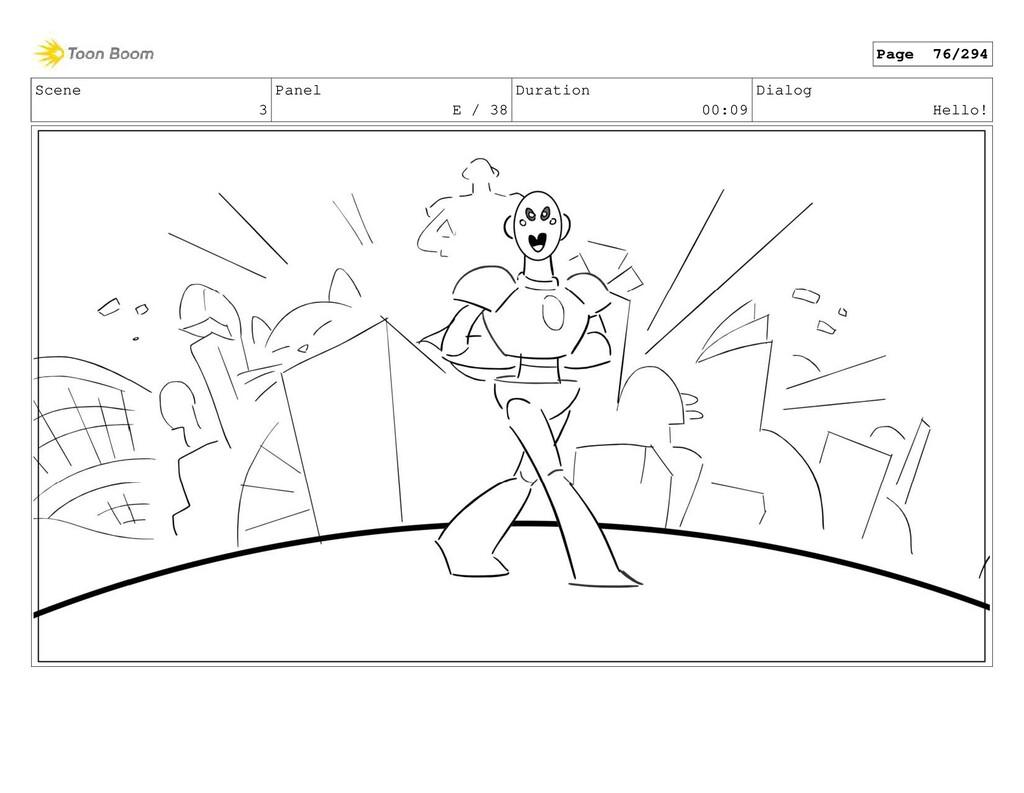 Scene 3 Panel E / 38 Duration 00:09 Dialog Hell...