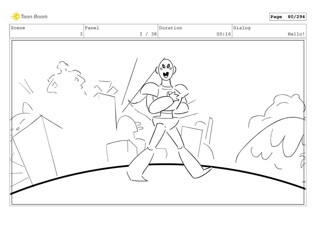 Scene 3 Panel I / 38 Duration 00:16 Dialog Hell...
