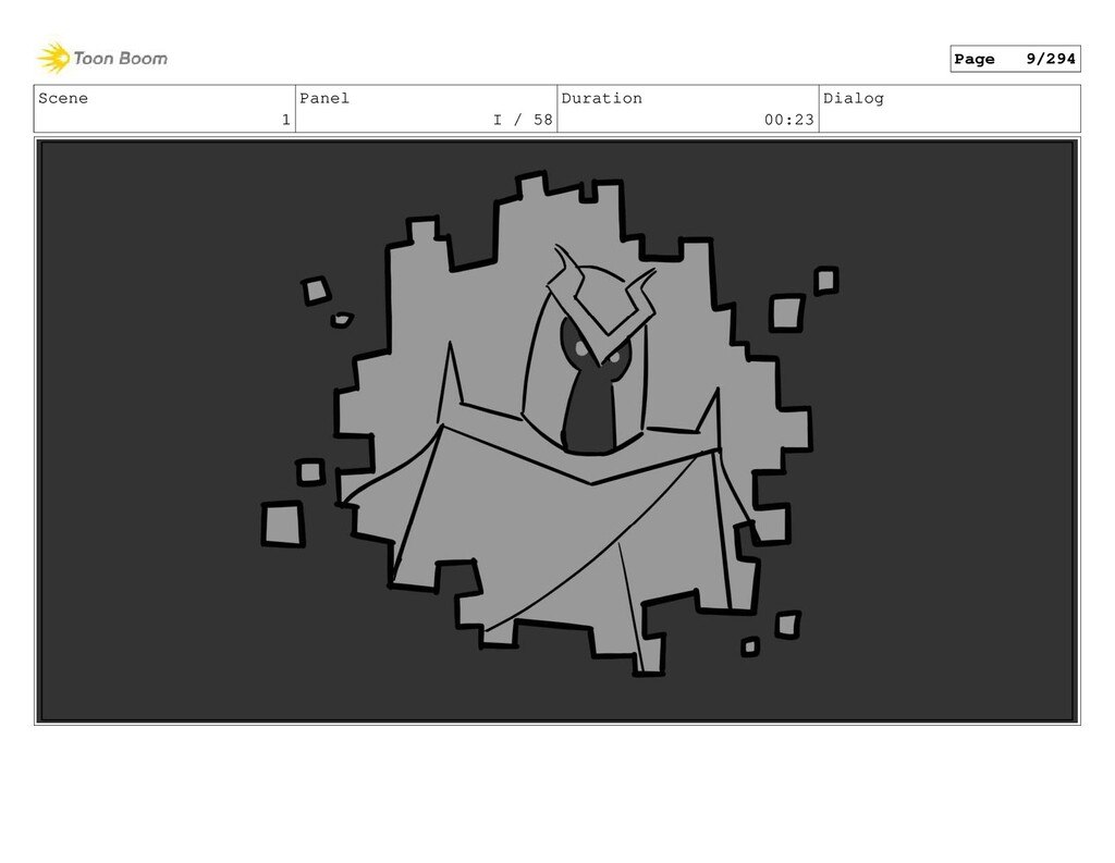 Scene 1 Panel I / 58 Duration 00:23 Dialog Page...