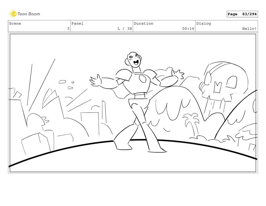 Scene 3 Panel L / 38 Duration 00:16 Dialog Hell...
