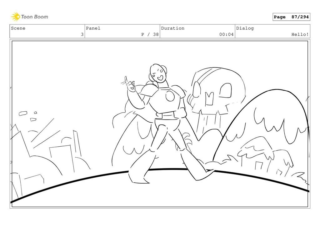 Scene 3 Panel P / 38 Duration 00:04 Dialog Hell...