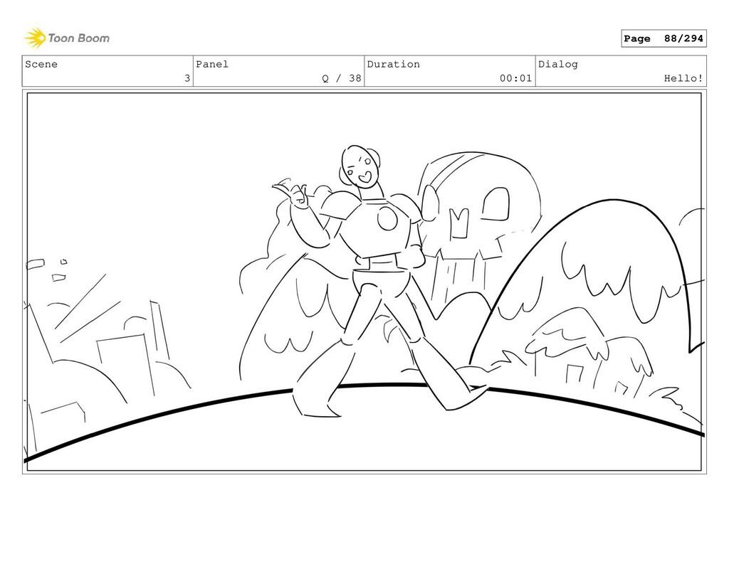 Scene 3 Panel Q / 38 Duration 00:01 Dialog Hell...
