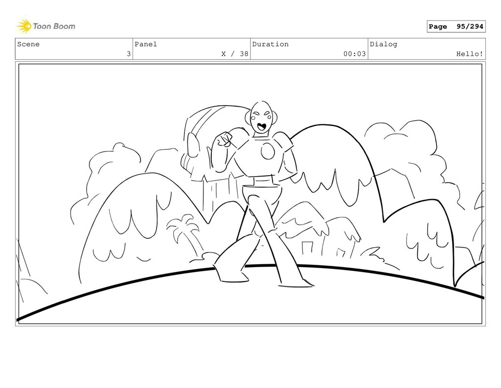 Scene 3 Panel X / 38 Duration 00:03 Dialog Hell...
