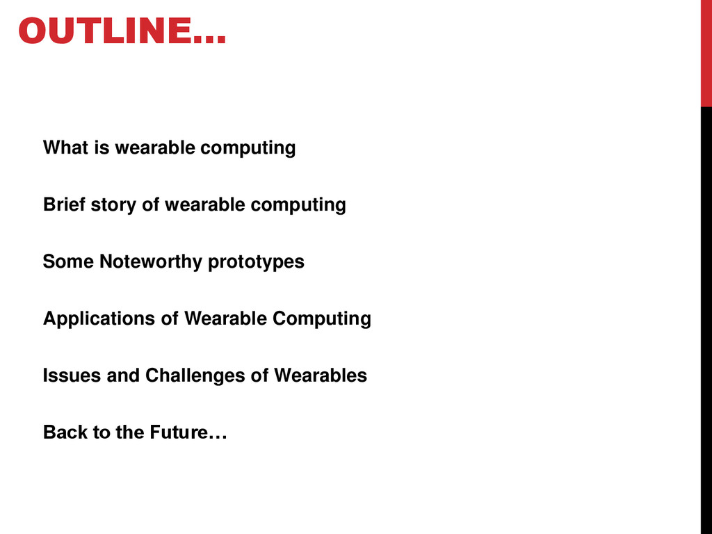 What is wearable computing Brief story of weara...