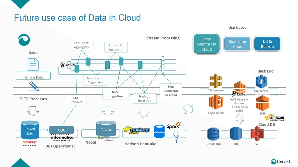 Future use case of Data in Cloud Cerved DBs CDC...