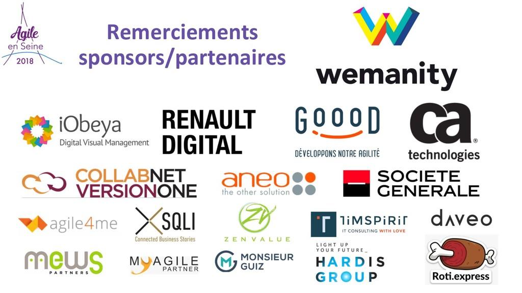 Remerciements sponsors/partenaires