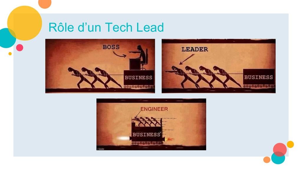 Rôle d'un Tech Lead