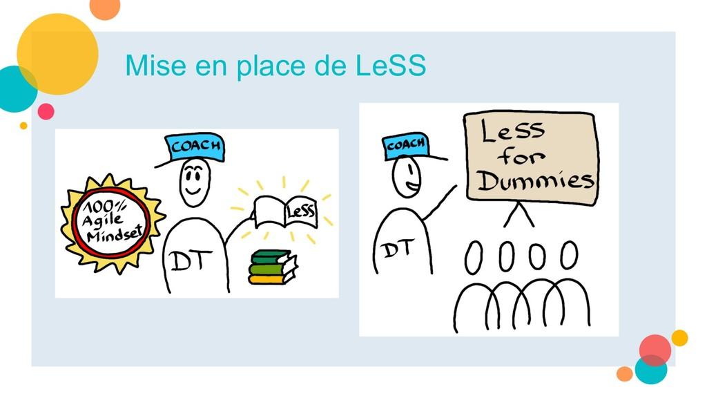 Mise en place de LeSS