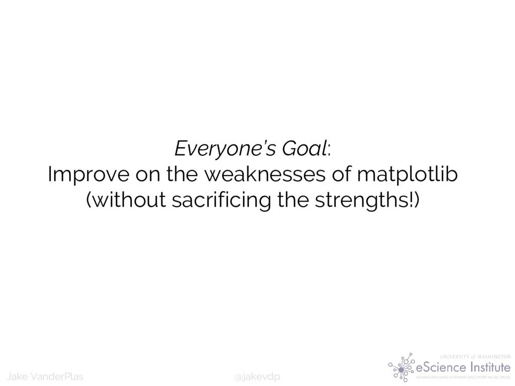 @jakevdp Jake VanderPlas Everyone's Goal: Impro...