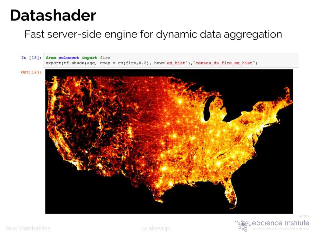 @jakevdp Jake VanderPlas Datashader Fast server...