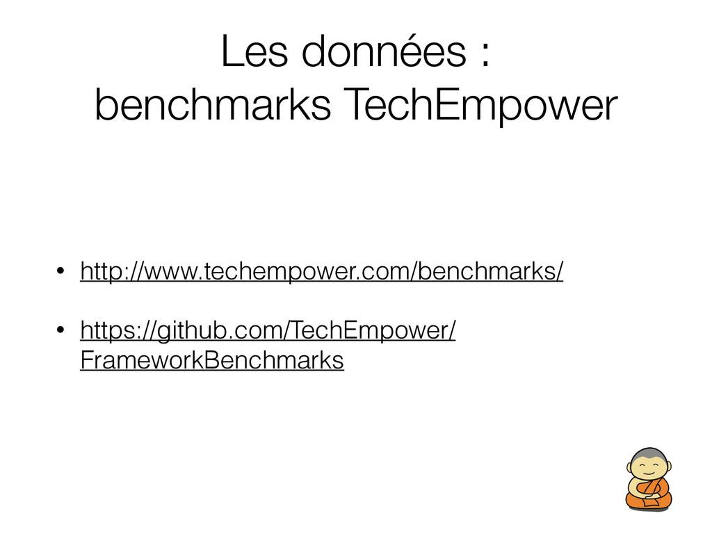 Les données : benchmarks TechEmpower • http://...