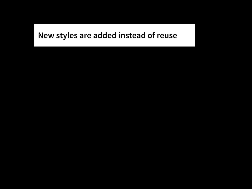 New styles are added instead of reuse