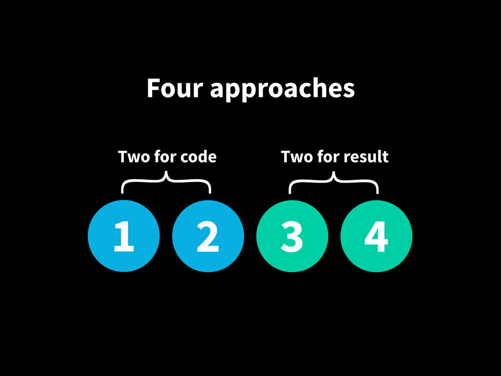1 2 3 4 Two for code Two for result { { Four ap...