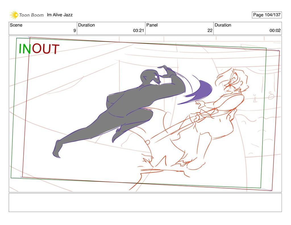 Scene 9 Duration 03:21 Panel 22 Duration 00:02 ...
