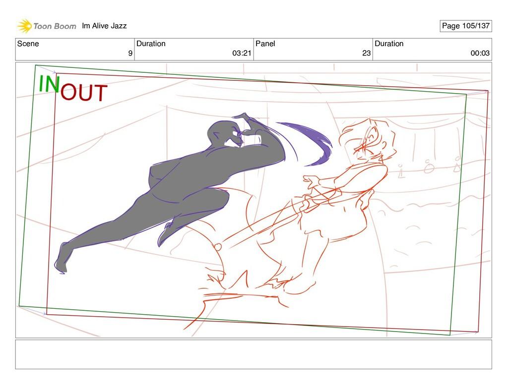 Scene 9 Duration 03:21 Panel 23 Duration 00:03 ...